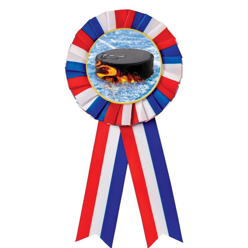RED/WHITE/BLUE MYLAR ROSETTES
