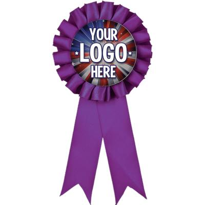 PURPLE ROSETTE INSERT RIBBON