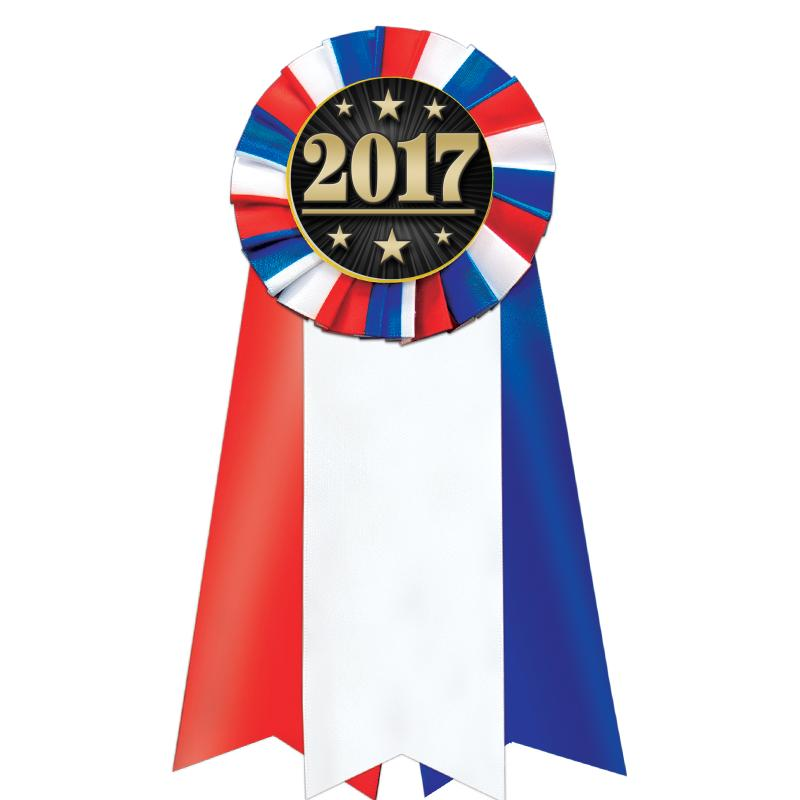 Jumbo Red White Blue Rosette Ribbon