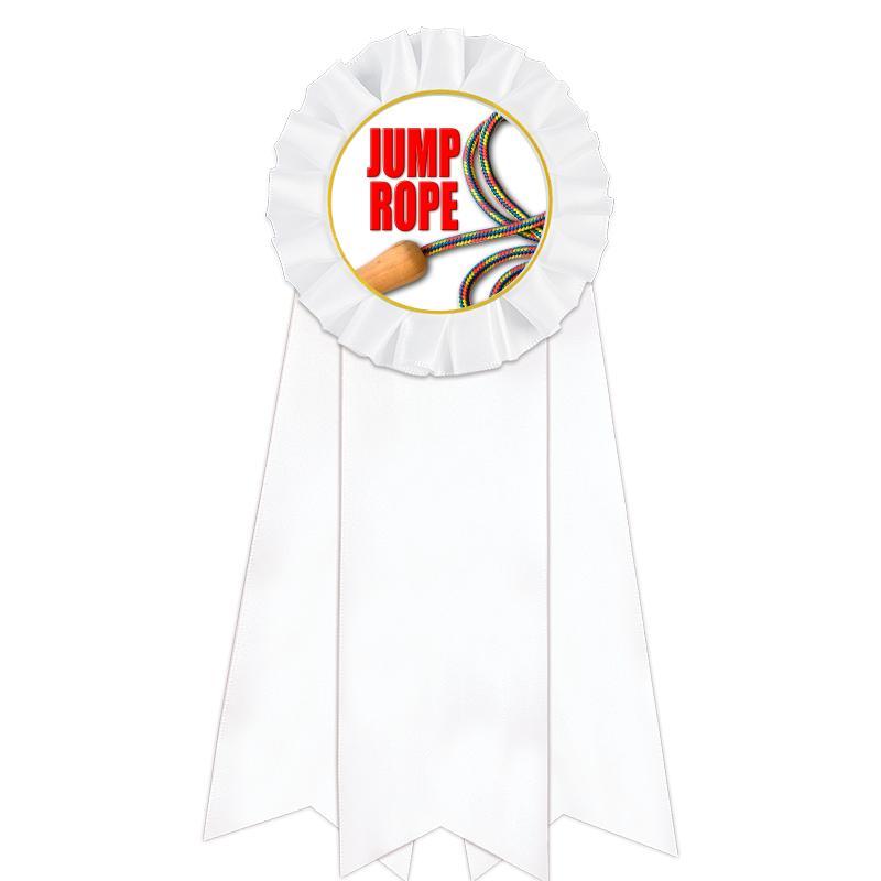 Jumbo White Rosette Ribbon