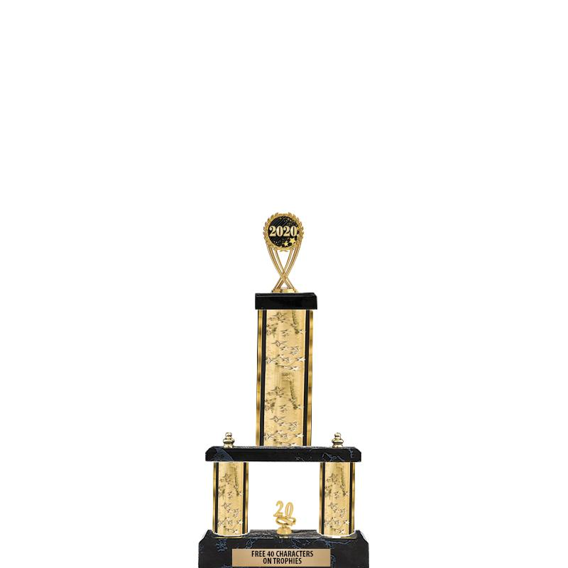 """19""""GOLD/GD-STARS- 2 TIER/FIG"""