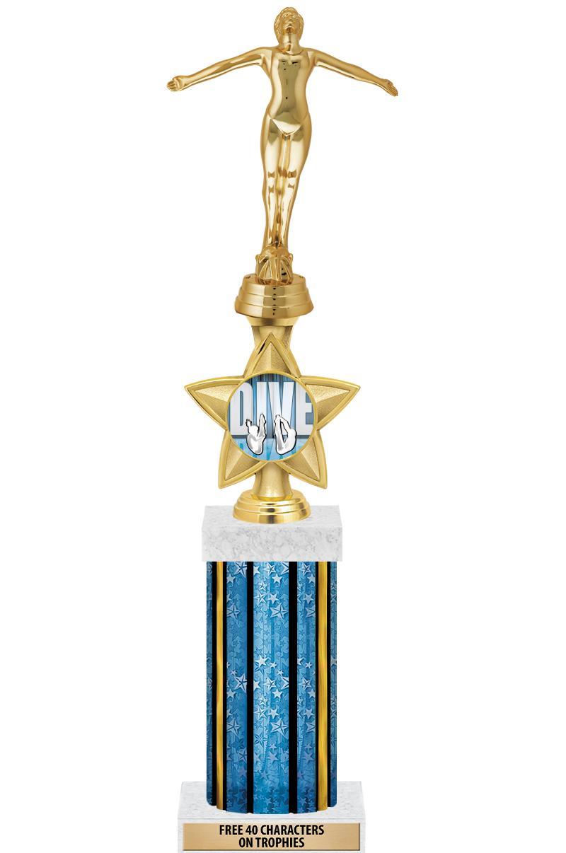 "18""BLUE STR-DELUXE W/IDOL STAR"