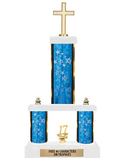 "19""BLUE/GD-STARS-2 TIER/FIG"