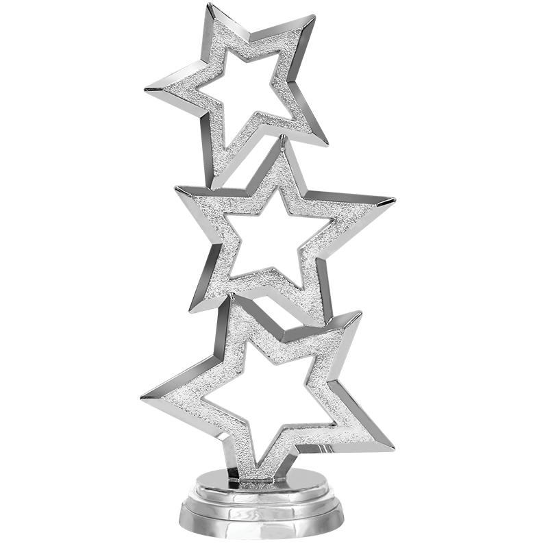 "6"" Participation Trophy On White Marble Base"