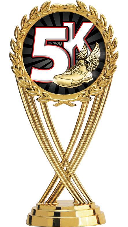 "6"" Participation Trophy On Black Marble Base"