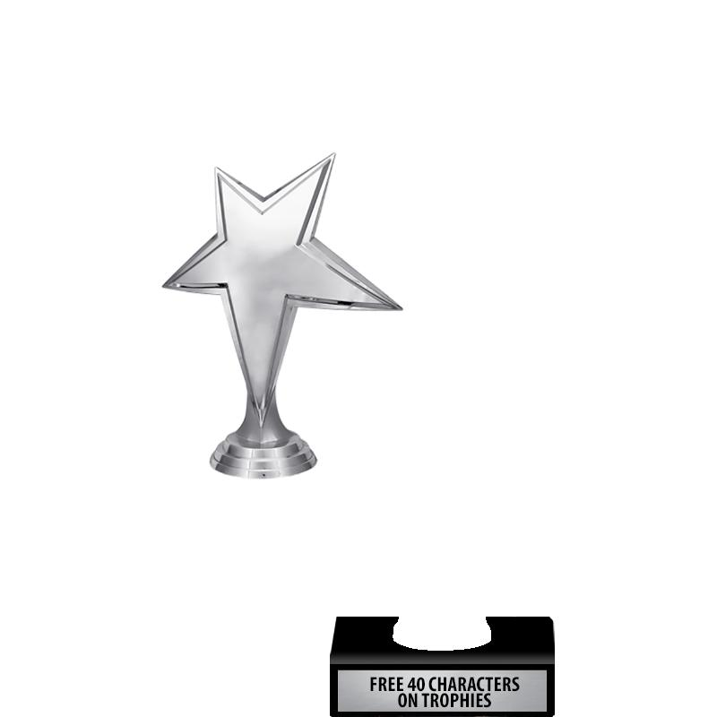 """6"""" TROPHY WITH SILVER FIGURES"""
