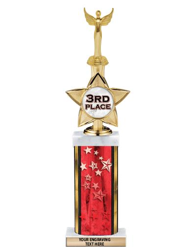 """18""""RED STAR-DELUXE W/IDOL STAR"""