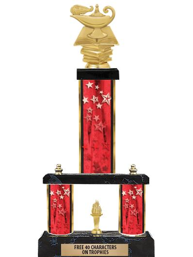"""19""""RED/GD-STARS - 2 TIER/FIG"""