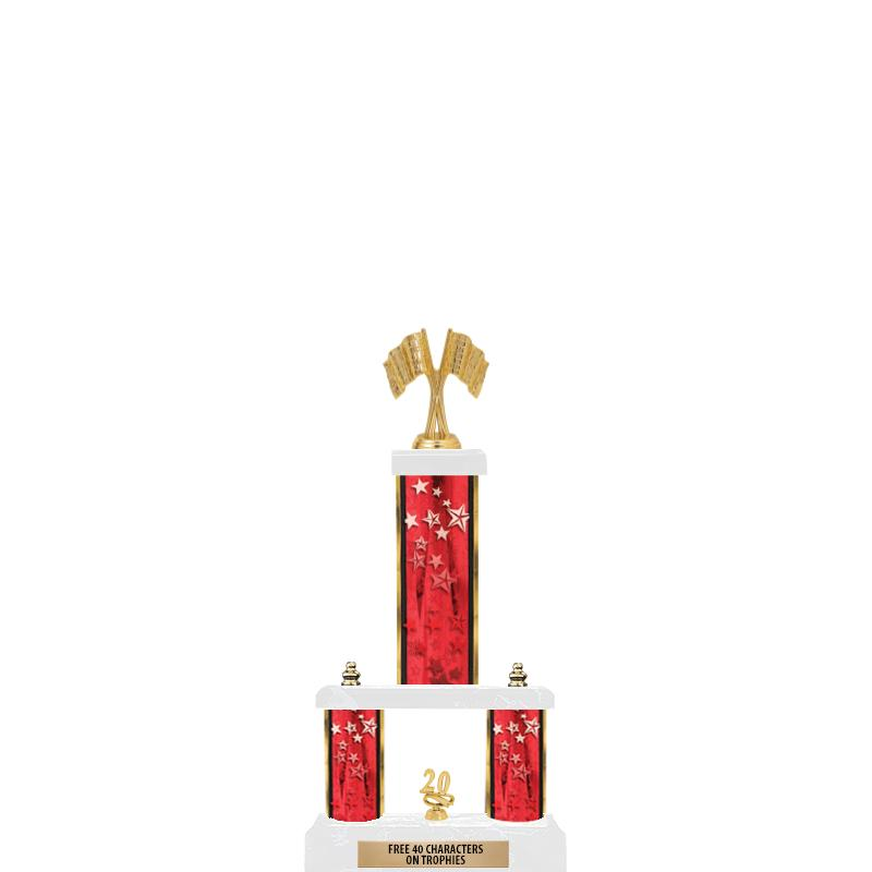 "19""RED/GD-STARS - 2 TIER/FIG"