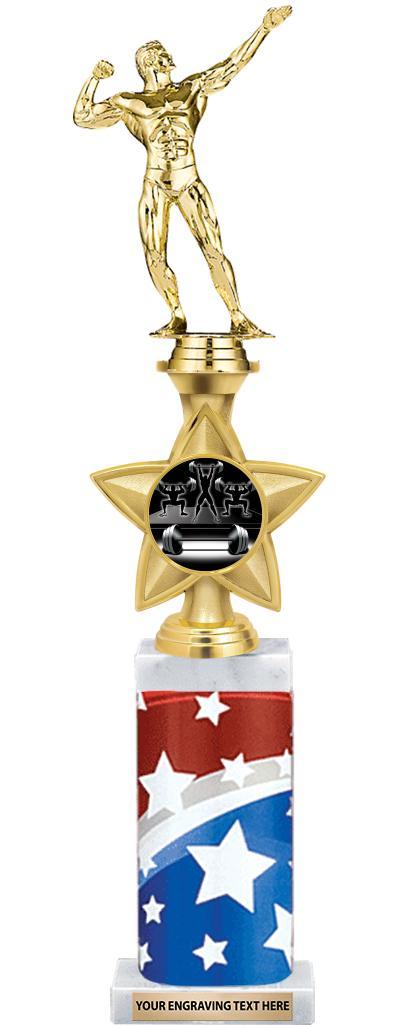 "18"" STAR SPANGLED DELX RSR TRP"