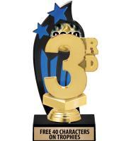 Backdrop Trophy - Blue & Black