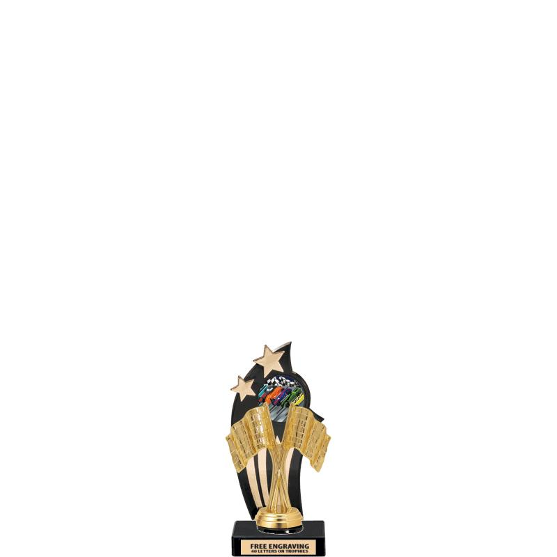 GOLD/BLACK BACKDROP TROPHY