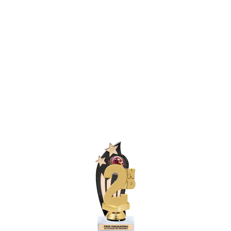 GOLD/BLACK BACKDROP TROPHY
