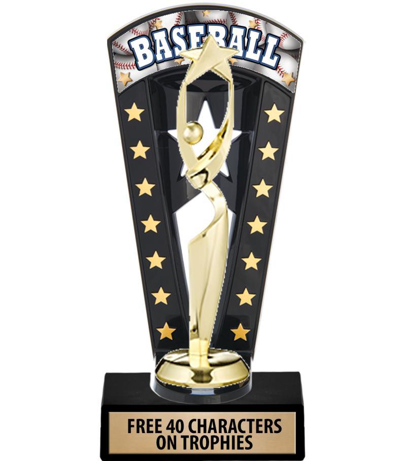 """7 3/4"""" Banner Backdrop Trophy"""