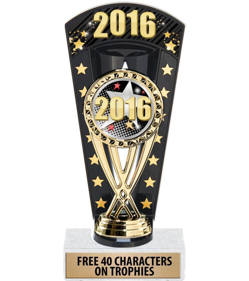 """7 3/4"""" 2016 Banner Backdrop Trophy"""