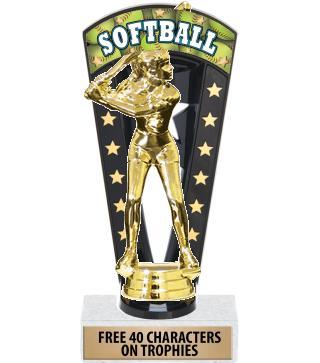 "7 3/4"" Softball Banner Backdrop Trophies"