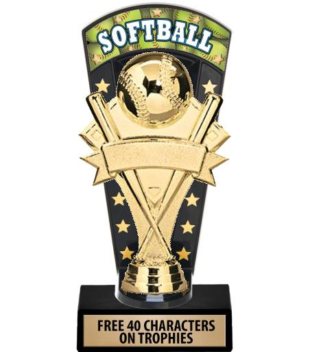 "7 3/4"" Softball Banner Backdrop Trophies"