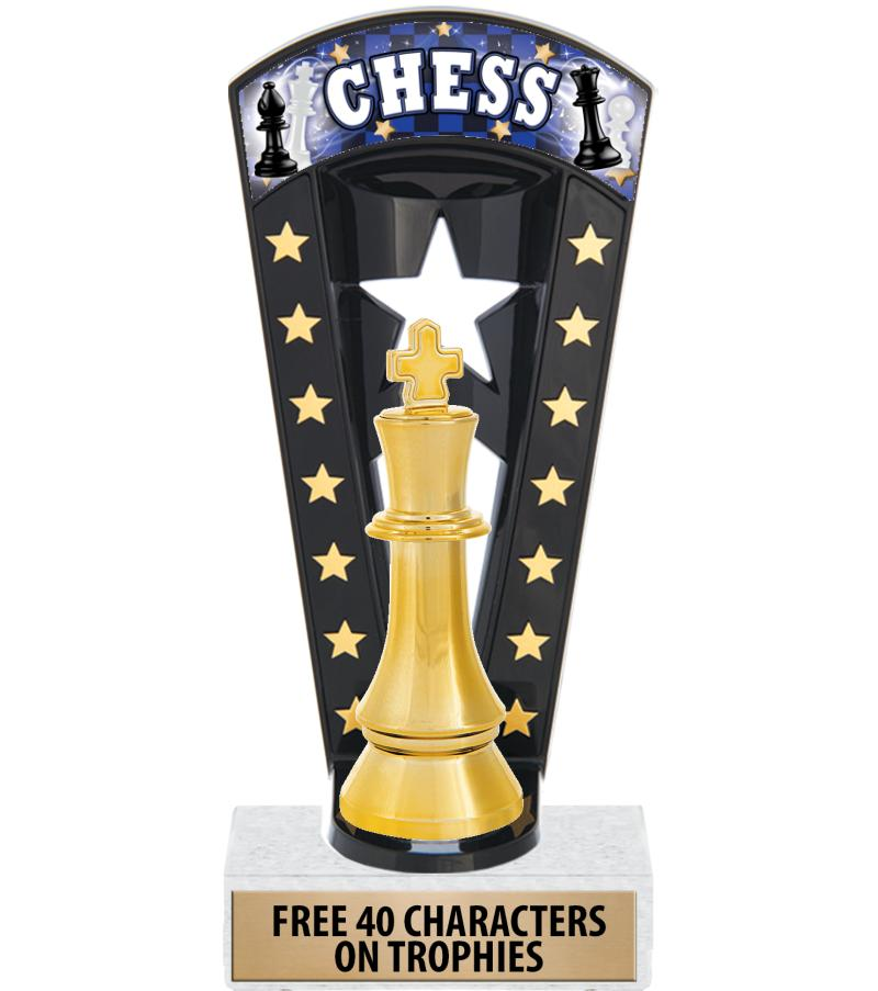 """7 3/4"""" Chess Banner Backdrop Trophies"""