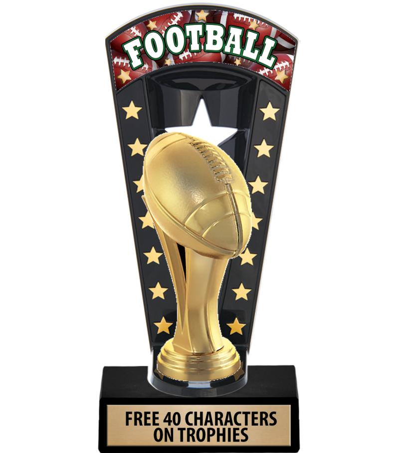 """7 3/4"""" Football Banner Backdrop Trophies"""