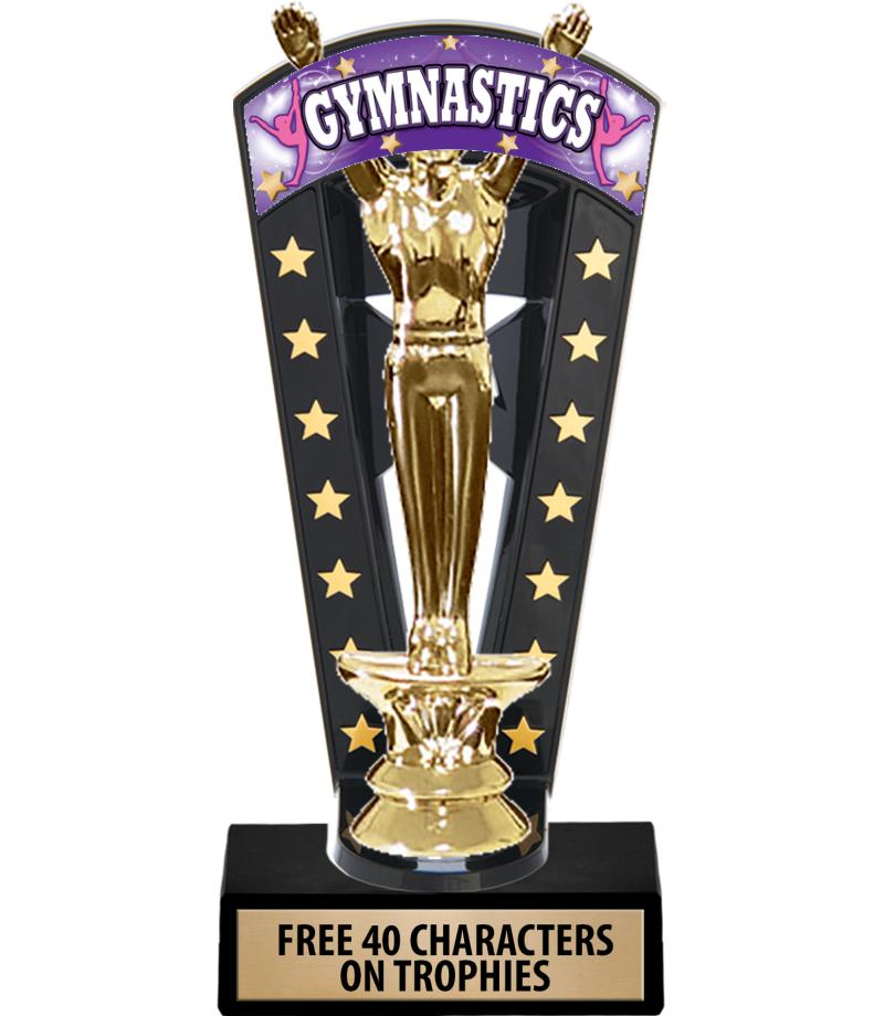 """7 3/4"""" Gym Banner Backdrop Trophies"""