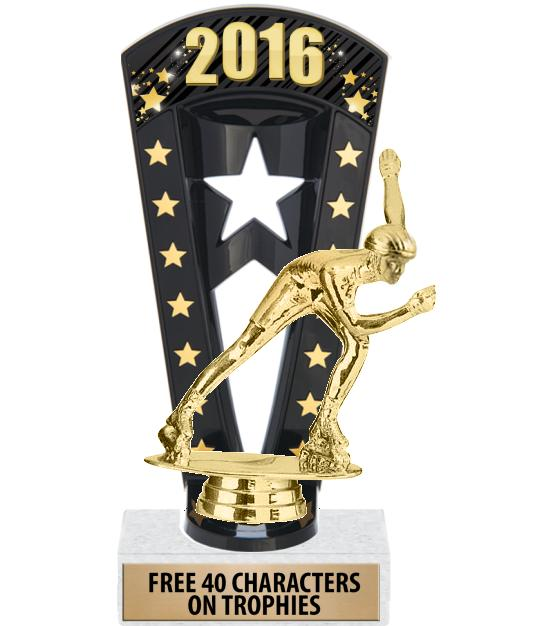 """7 3/4"""" Hockey Banner Backdrop Trophies"""