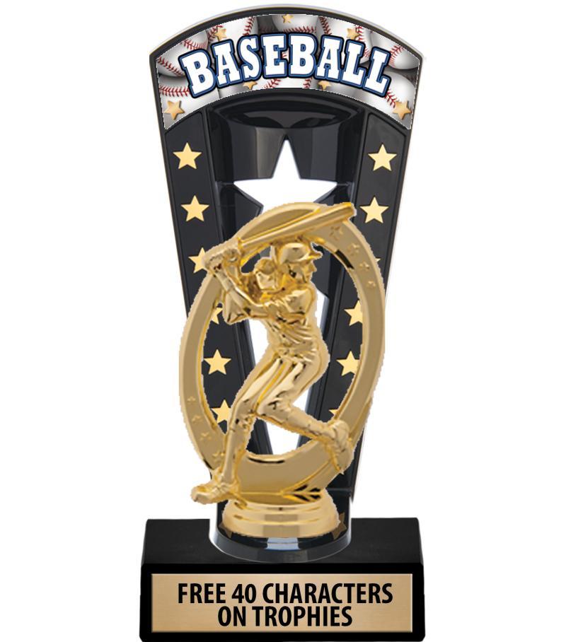 "7 3/4"" Baseball Banner Backdrop Trophies"
