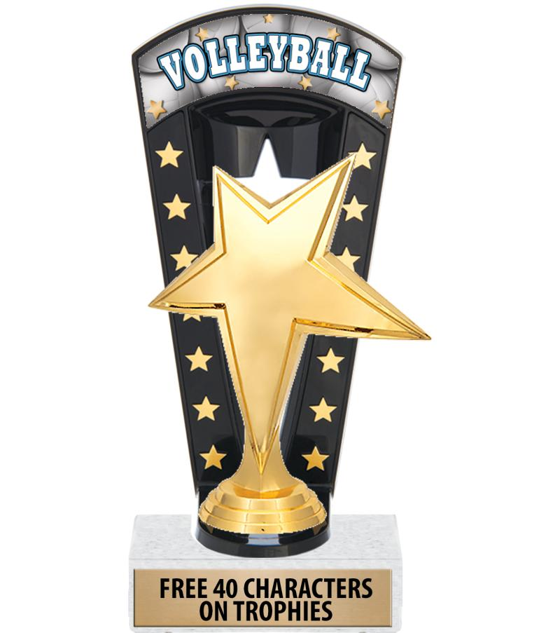 "7 3/4"" Volleyball Banner Backdrop Trophies"