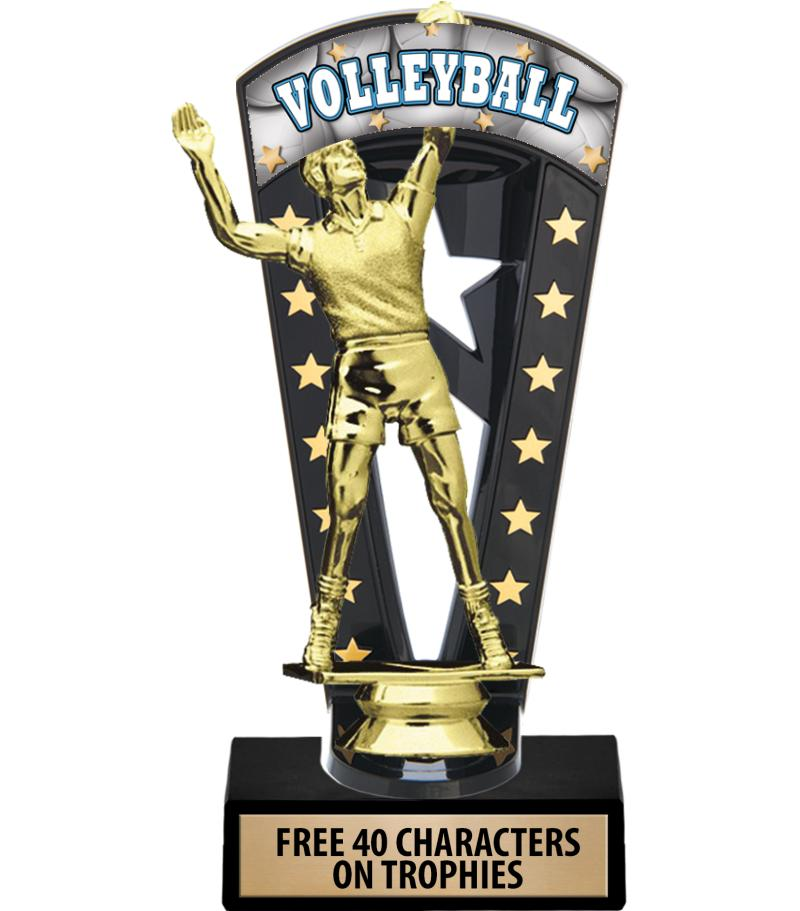 """7 3/4"""" Volleyball Banner Backdrop Trophies"""