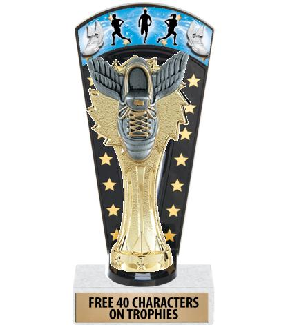 """7 3/4"""" Track & Field Banner Backdrop Trophies"""