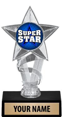 "7"" Gold & Clear Star Insert Trophies"