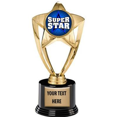 """8"""" Gold and Silver Star Insert Deluxe Trophy"""