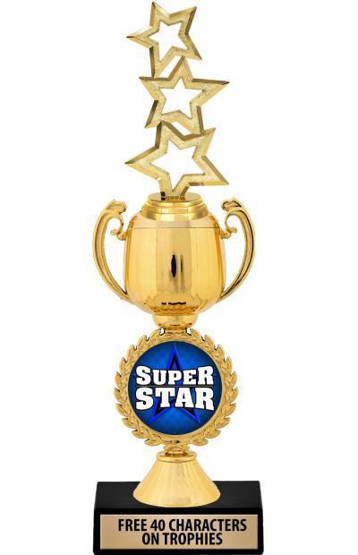 "12"" Gold Chaplet Cup Riser Trophy"