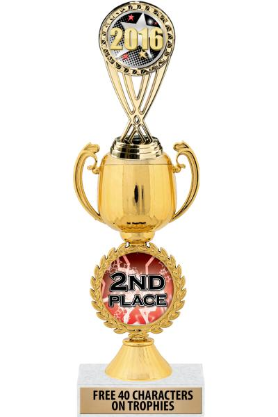 "12"" CHAPLET CUP RISER W/ MARBL"