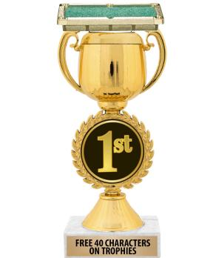 """12"""" 1ST PLACE CHAPLET CUP TROP"""
