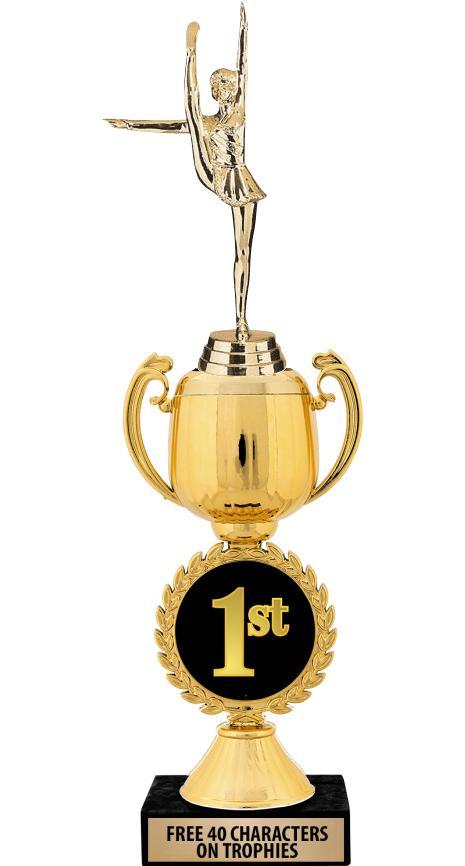 """12"""" 1st Place Chaplet Cup Trophy"""