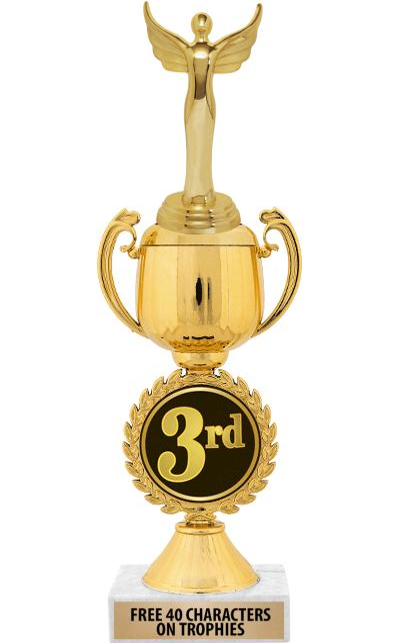 """12"""" 3RD PLACE CHAPLET CUP TROP"""