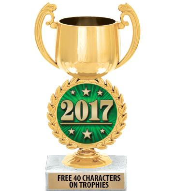 "6 1/4"" Gold Chaplet Cup Trophy"