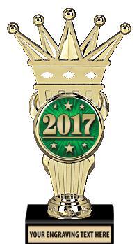 "7 3/4"" Gold Crown Insert Trophy"