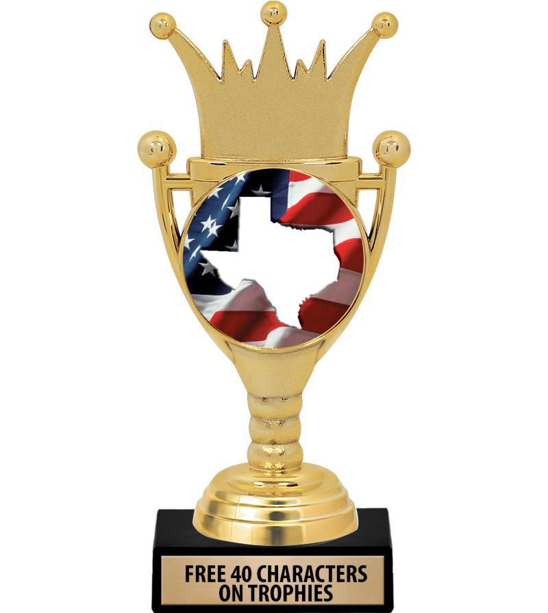 "6.75"" CROWN CUP INSERT TROPHY"