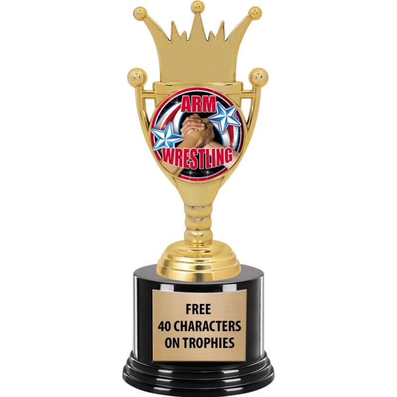 CROWN CUP INSERT TROPHY