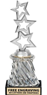 "10"" - 14"" Clear Crystalline Swirl Trophies"