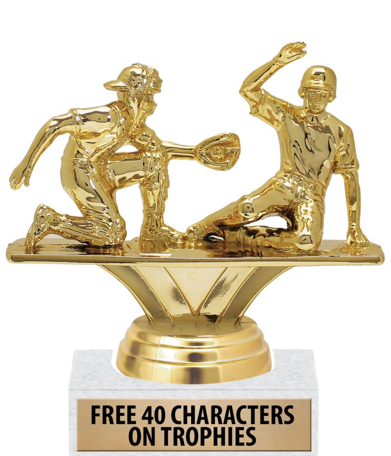 """6"""" Double Action Participation Trophies"""