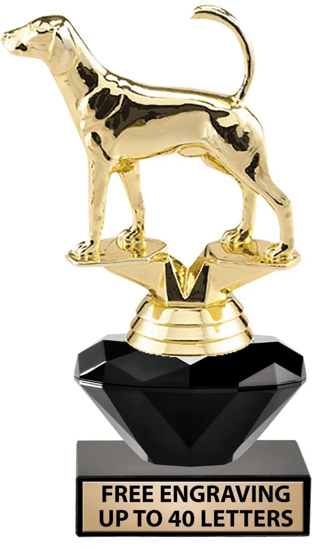 """7"""" - 12"""" Black Crystalline Trophies"""