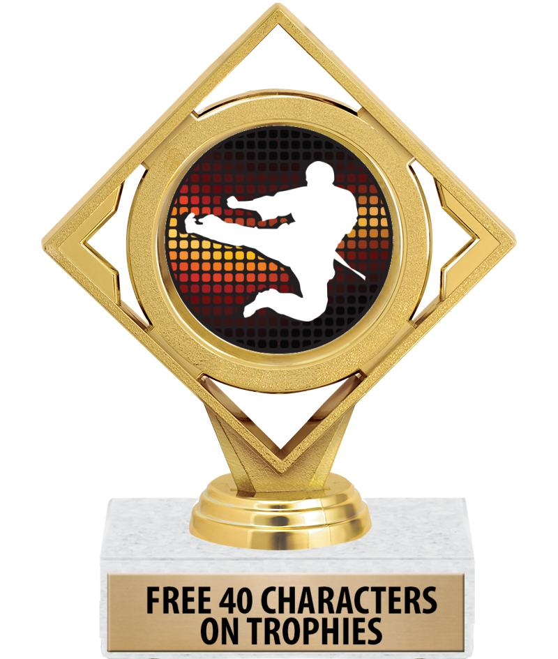 "6"" DIAMOND INSERT TROPHY"