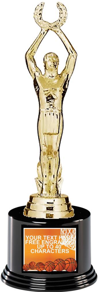 "7"" Color Deluxe Applique Trophy"