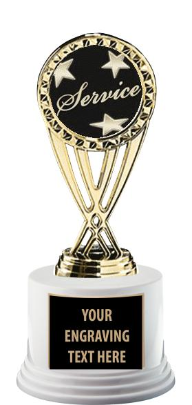 """7"""" & 7 1/4"""" Deluxe Trophy On Base"""