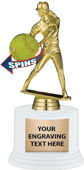 "7"" Deluxe Trophy on White Base"