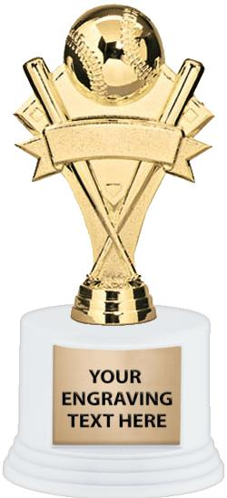 """7"""" Deluxe Trophy on White Base"""