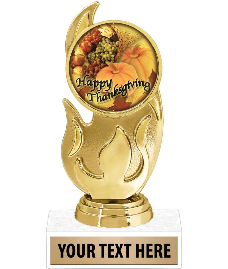 """5.75"""" FLAME INSERT TROPHY"""