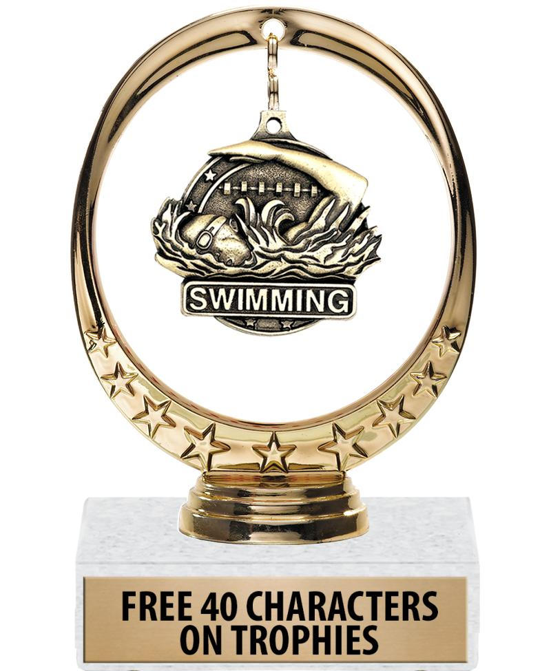 "6"" FLOATING MEDAL TROPHY"